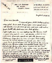 letter that is scanned is from Bob's good friend and Lt.Bart Hale to his Mom telling of Bob's being up for the Distinguished Service Cross.(He has yet to receive this